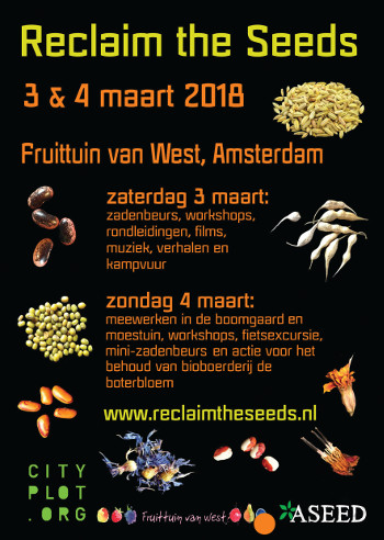 Reclaim the Seeds Amsterdam @ Fruittuinen van West